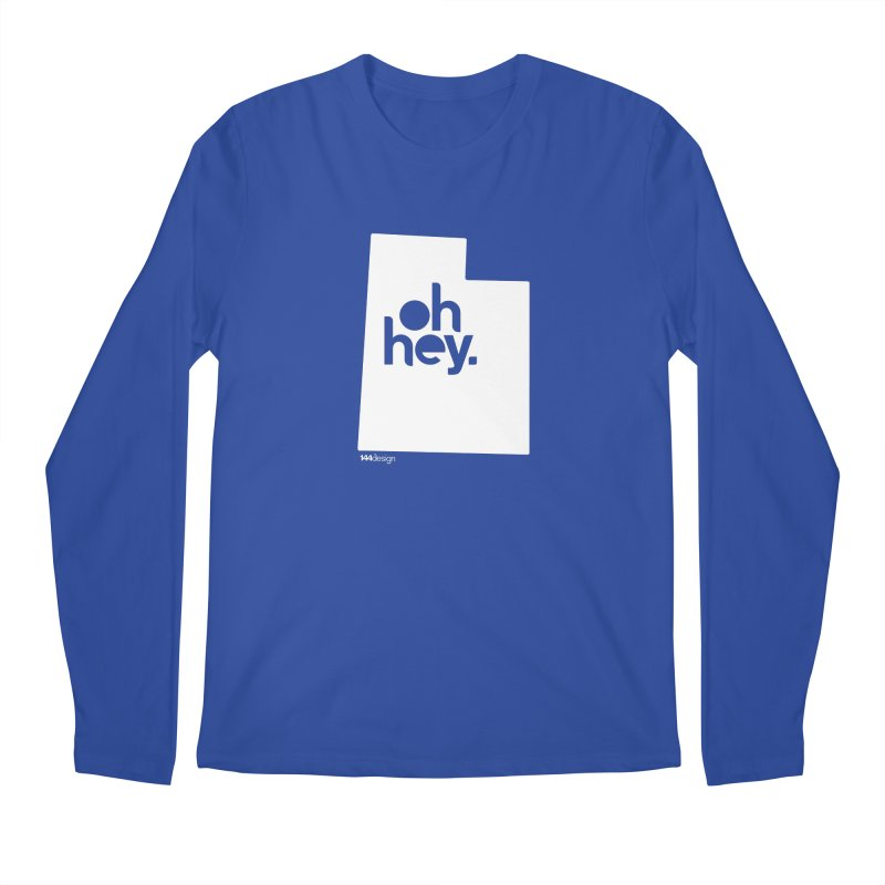 Oh Hey : Utah (White) Men's Regular Longsleeve T-Shirt by 144design