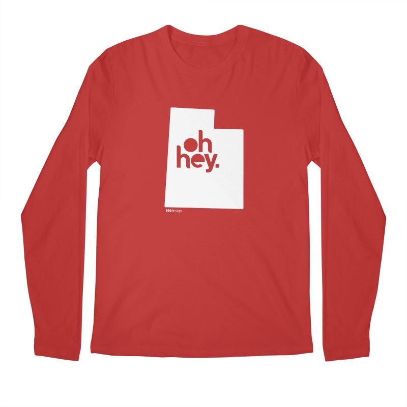 Oh Hey : Utah (White) Men's Regular Longsleeve T-Shirt by 144design