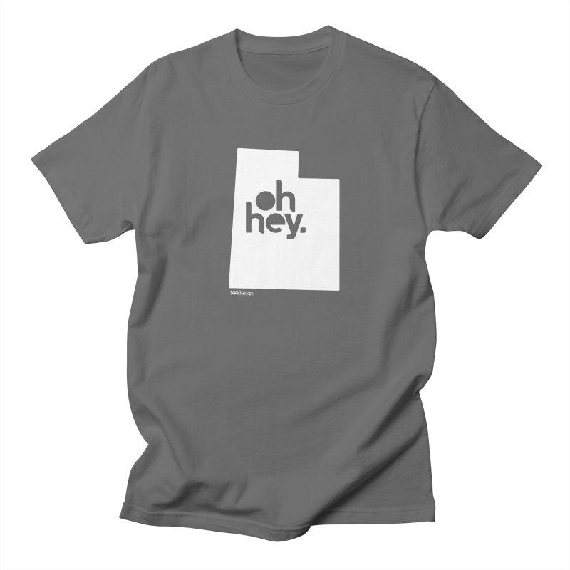 Oh Hey : Utah (White) Men's T-Shirt by 144design