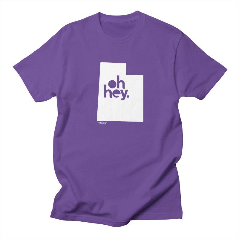 Oh Hey : Utah (White) Men's Regular T-Shirt by 144design