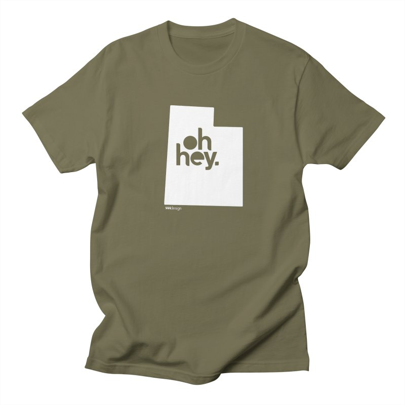Oh Hey : Utah (White) Men's Regular T-Shirt by 144design