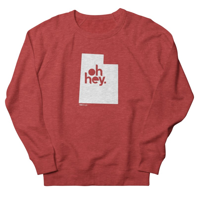 Oh Hey : Utah (White) Men's Sweatshirt by 144design