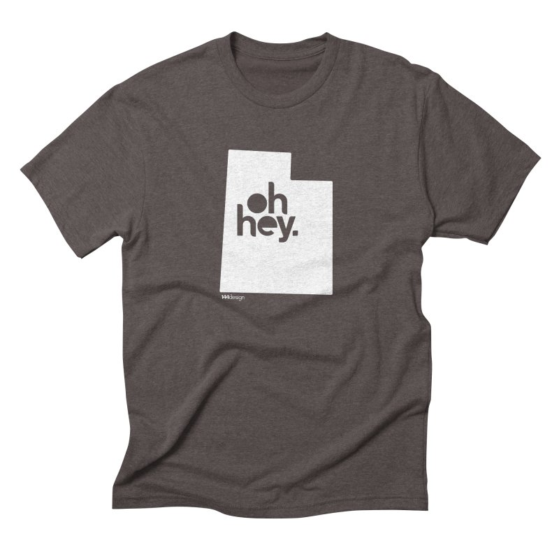 Oh Hey : Utah (White) Men's Triblend T-Shirt by 144design