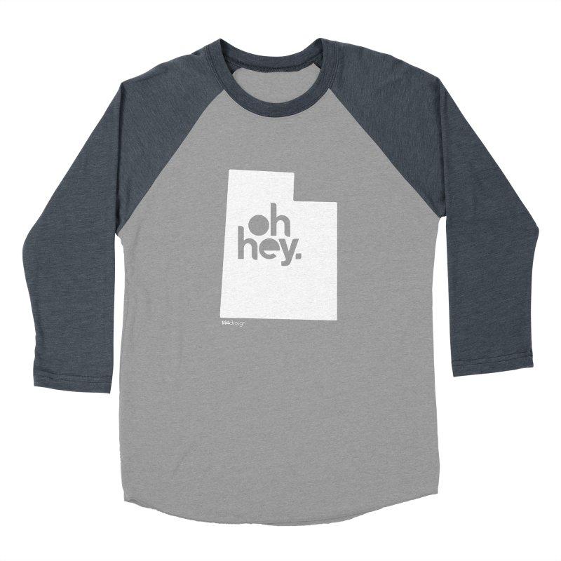 Oh Hey : Utah (White) Men's Baseball Triblend Longsleeve T-Shirt by 144design