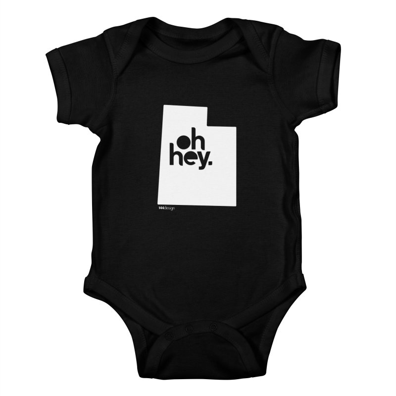 Oh Hey : Utah (White) Kids Baby Bodysuit by 144design