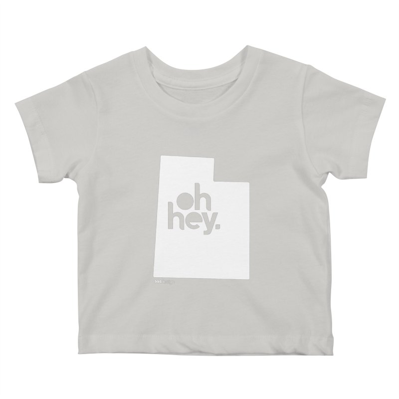 Oh Hey : Utah (White) Kids Baby T-Shirt by 144design