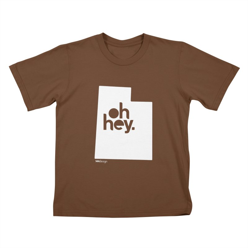 Oh Hey : Utah (White) Kids T-Shirt by 144design