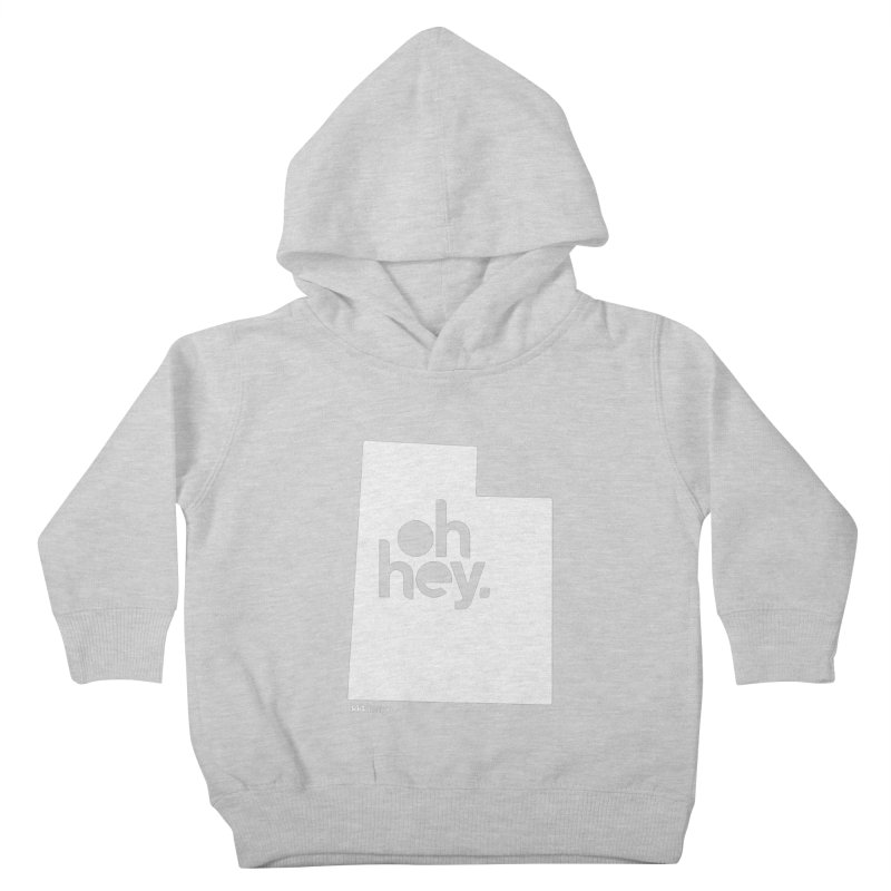 Oh Hey : Utah (White) Kids Toddler Pullover Hoody by 144design