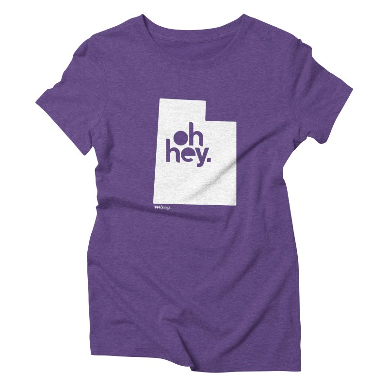 Oh Hey : Utah (White) Women's Triblend T-Shirt by 144design