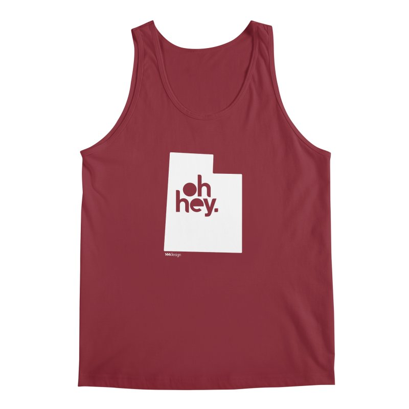 Oh Hey : Utah (White) Men's Tank by 144design