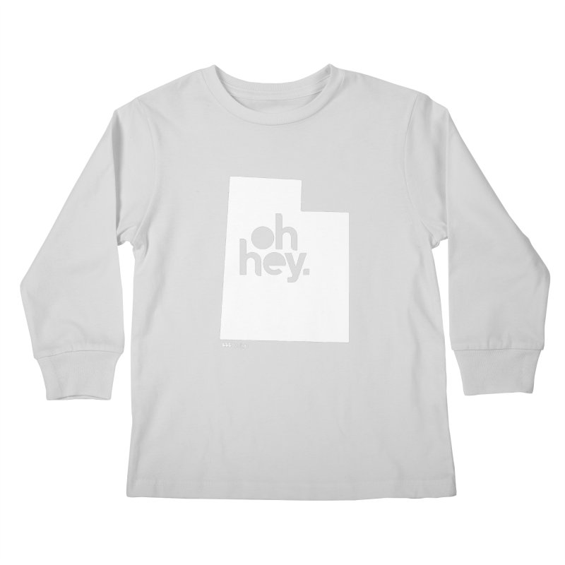 Oh Hey : Utah (White) Kids Longsleeve T-Shirt by 144design