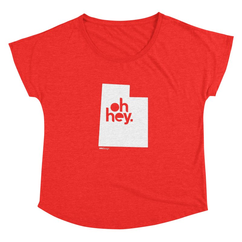 Oh Hey : Utah (White) Women's Scoop Neck by 144design