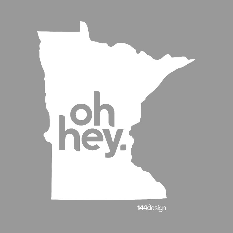 Oh Hey : Minnesota (White) Men's V-Neck by 144design