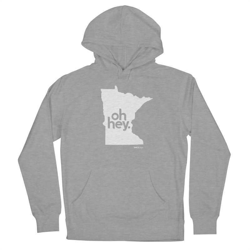 Oh Hey : Minnesota (White) Men's French Terry Pullover Hoody by 144design