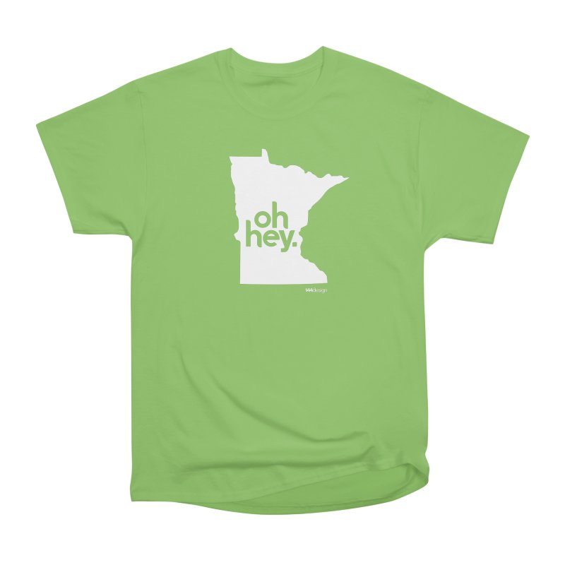 Oh Hey : Minnesota (White) Men's Heavyweight T-Shirt by 144design