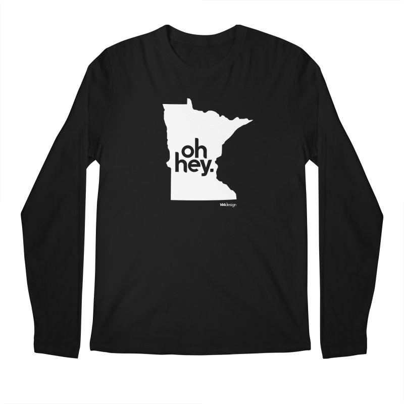 Oh Hey : Minnesota (White) Men's Regular Longsleeve T-Shirt by 144design