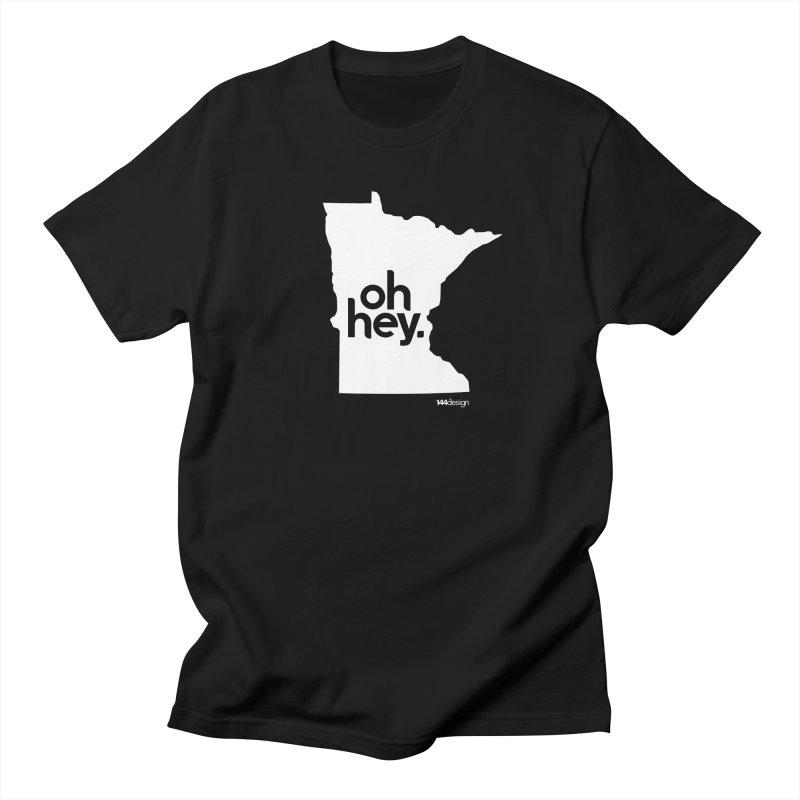 Oh Hey : Minnesota (White) Men's T-Shirt by 144design
