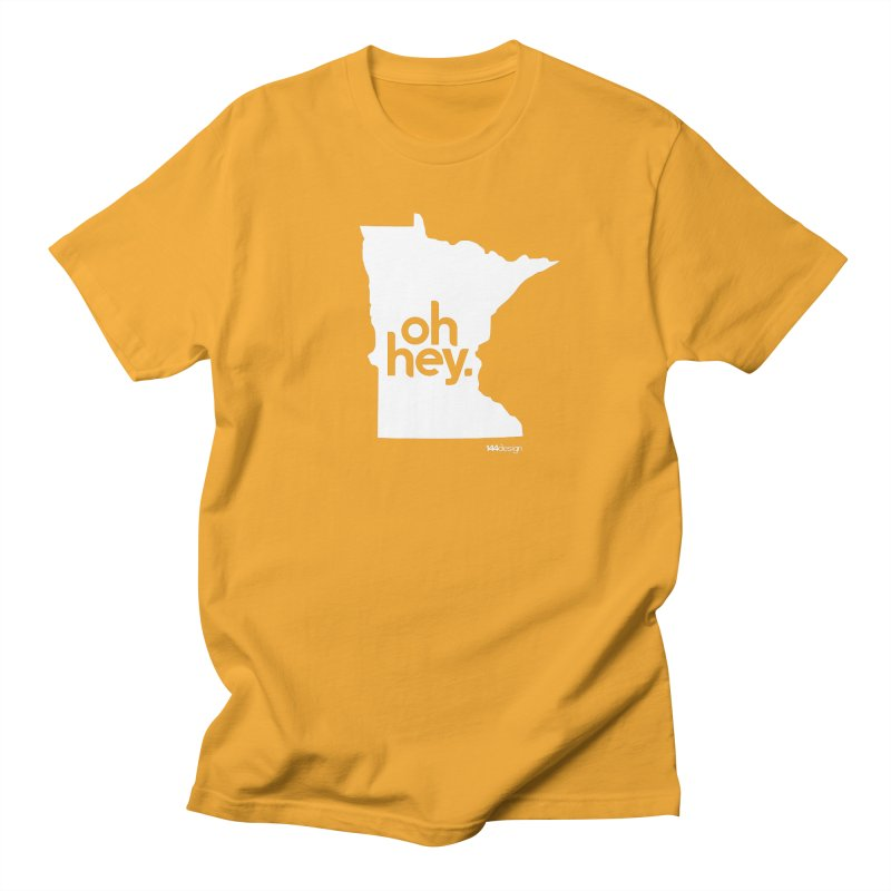 Oh Hey : Minnesota (White) Men's Regular T-Shirt by 144design