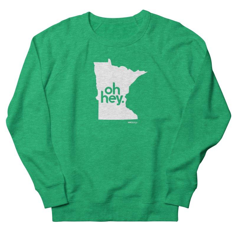 Oh Hey : Minnesota (White) Men's French Terry Sweatshirt by 144design