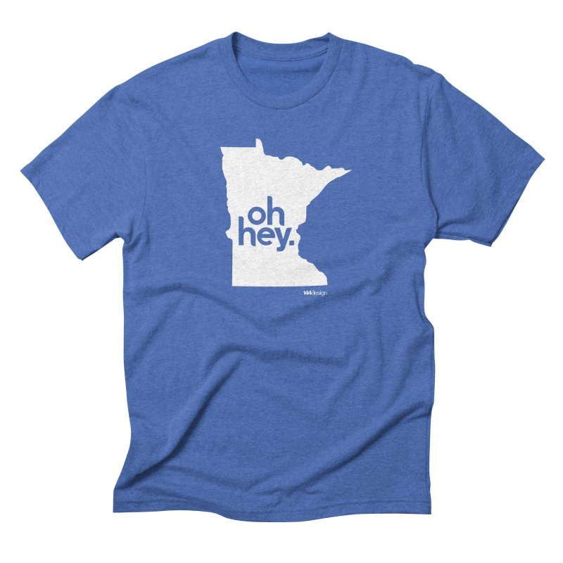 Oh Hey : Minnesota (White) Men's T-Shirt by 144design