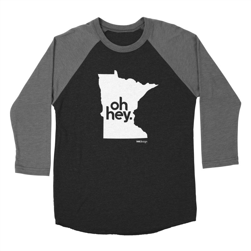 Oh Hey : Minnesota (White) Women's Baseball Triblend Longsleeve T-Shirt by 144design