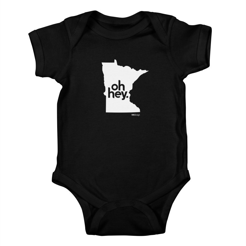 Oh Hey : Minnesota (White) Kids Baby Bodysuit by 144design