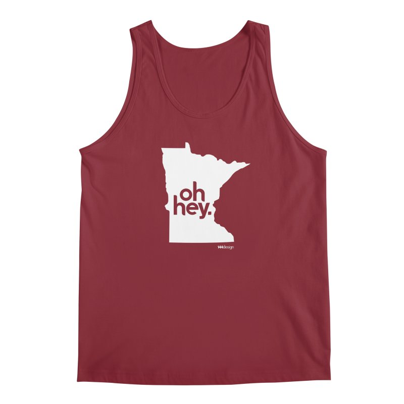 Oh Hey : Minnesota (White) Men's Tank by 144design