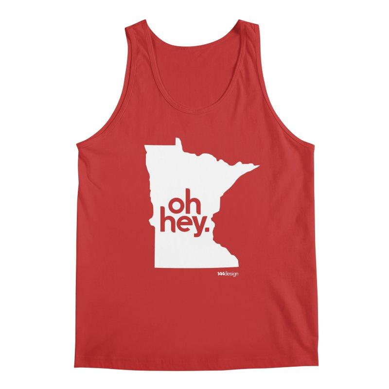 Oh Hey : Minnesota (White) Men's Regular Tank by 144design