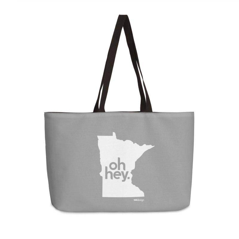 Oh Hey : Minnesota (White) Accessories Bag by 144design