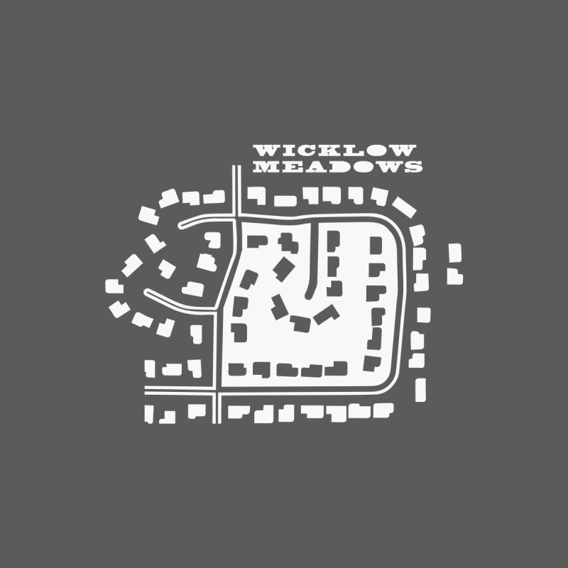 Wicklow Meadows (map) Men's T-Shirt by 144design