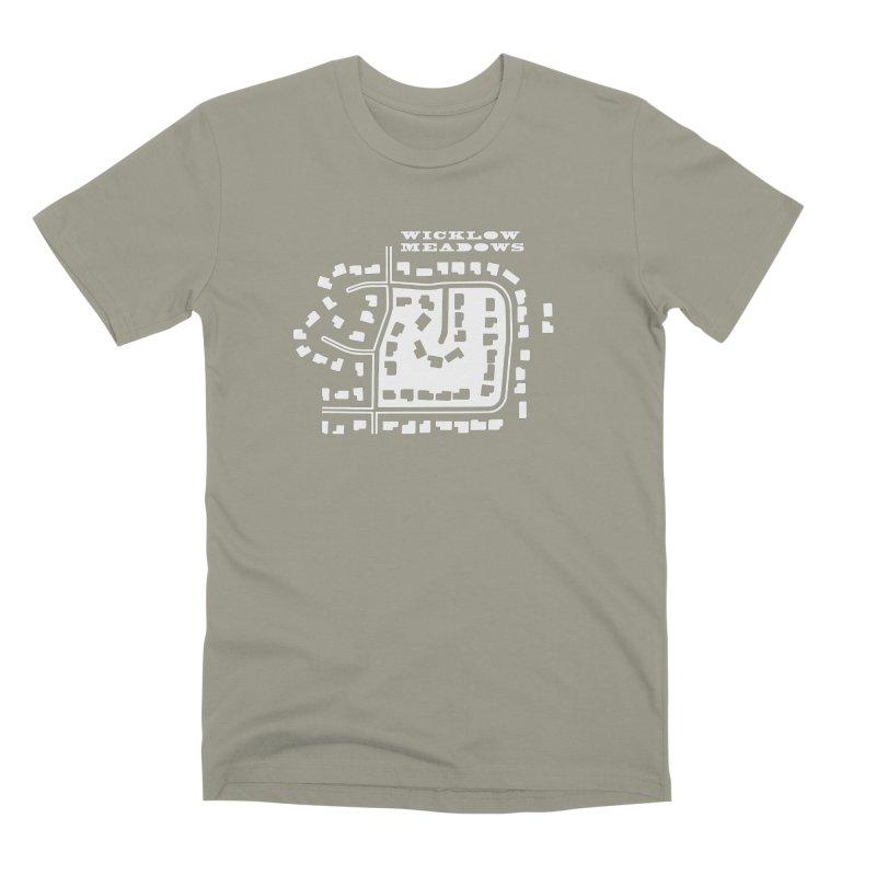 Wicklow Meadows (map) Men's Premium T-Shirt by 144design