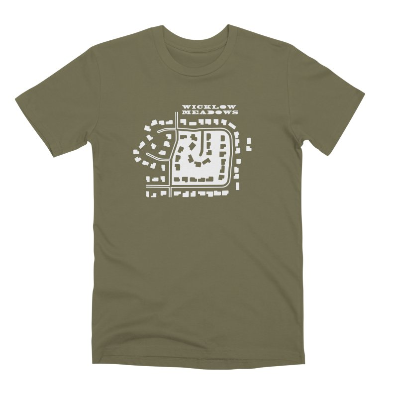 Wicklow Meadows (map) Men's Premium T-Shirt by 144design