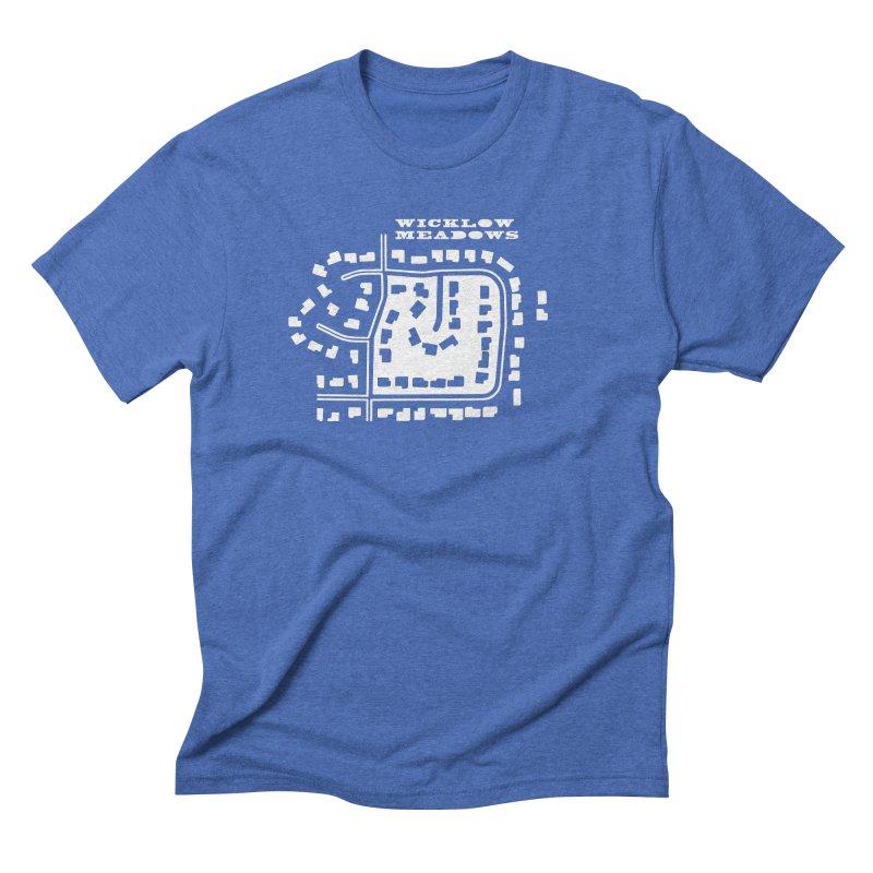 Wicklow Meadows (map) Men's T-Shirt by 144design