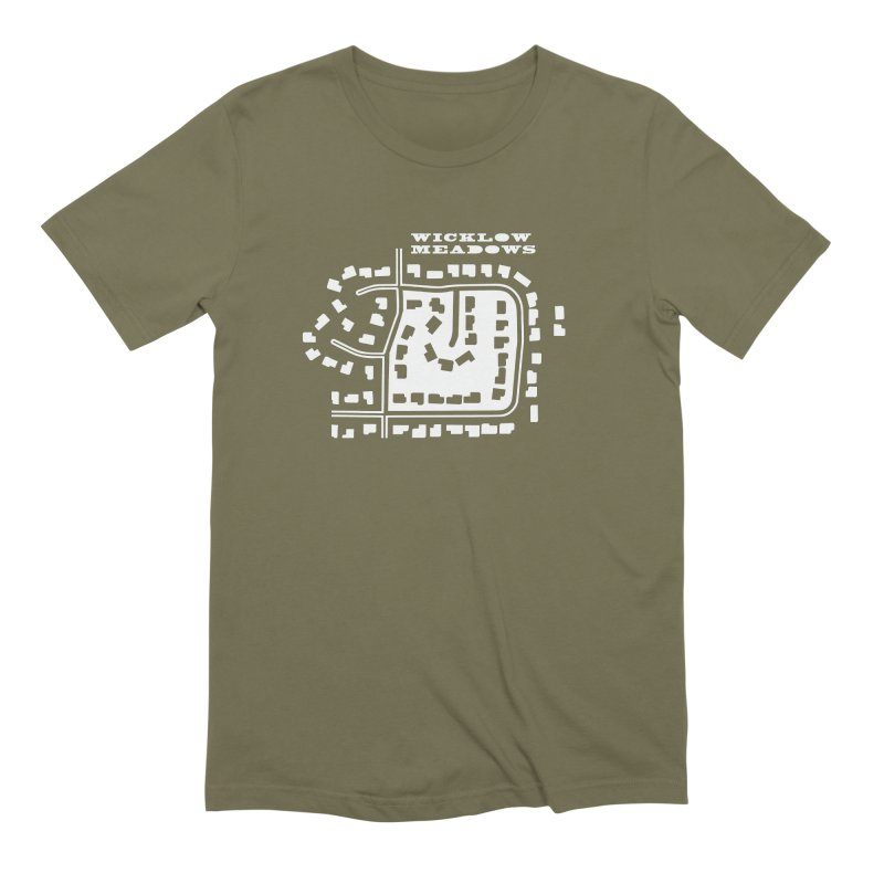 Wicklow Meadows (map) Men's Extra Soft T-Shirt by 144design