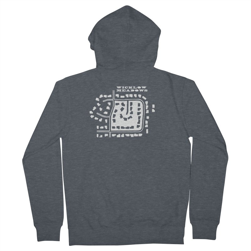 Wicklow Meadows (map) Women's French Terry Zip-Up Hoody by 144design