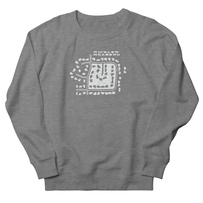Wicklow Meadows (map) Men's French Terry Sweatshirt by 144design