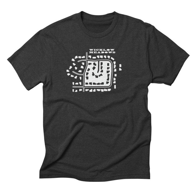 Wicklow Meadows (map) Men's Triblend T-Shirt by 144design