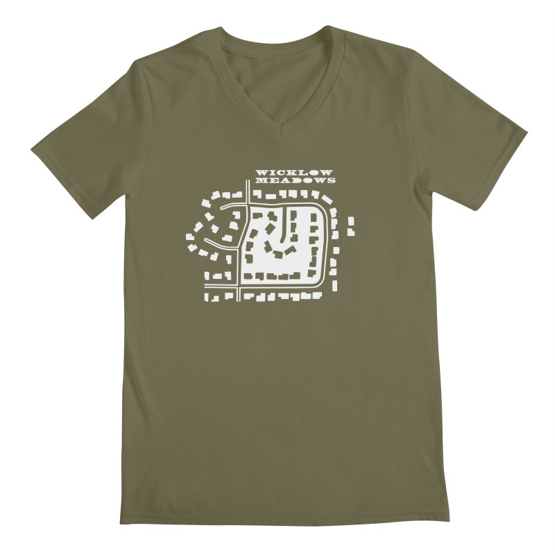 Wicklow Meadows (map) Men's V-Neck by 144design
