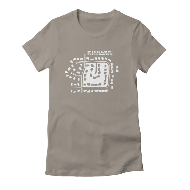 Wicklow Meadows (map) Women's Fitted T-Shirt by 144design