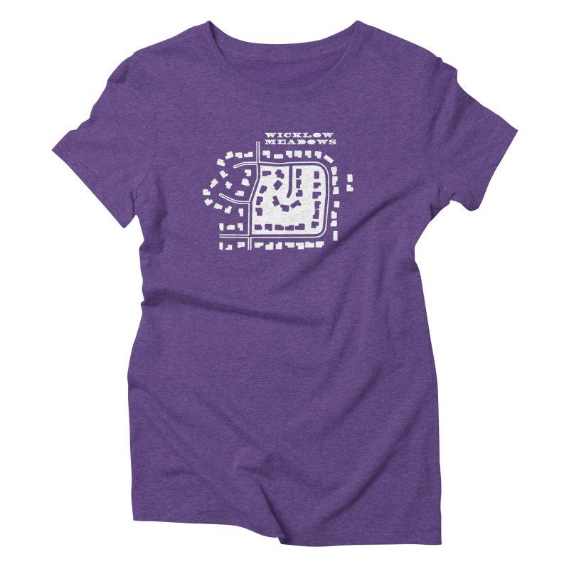 Wicklow Meadows (map) Women's Triblend T-Shirt by 144design