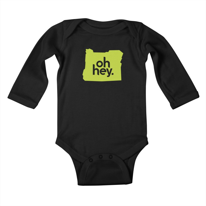 Oh Hey : Oregon Kids Baby Longsleeve Bodysuit by 144design