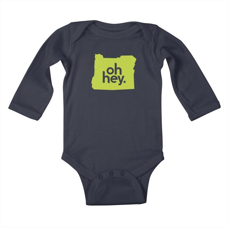 Oh Hey : Oregon Kids Baby Longsleeve Bodysuit by 144design