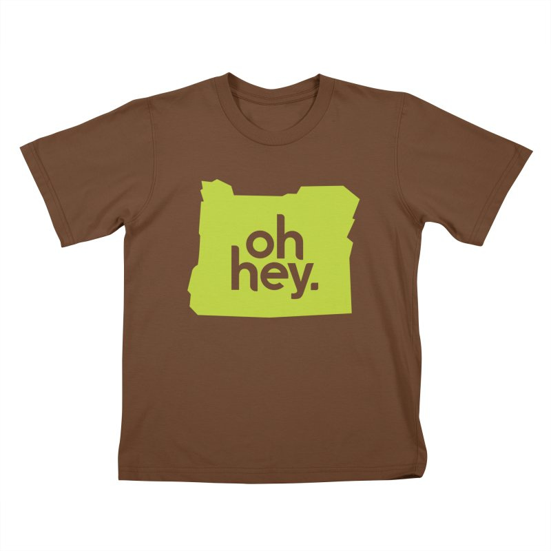 Oh Hey : Oregon Kids T-Shirt by 144design