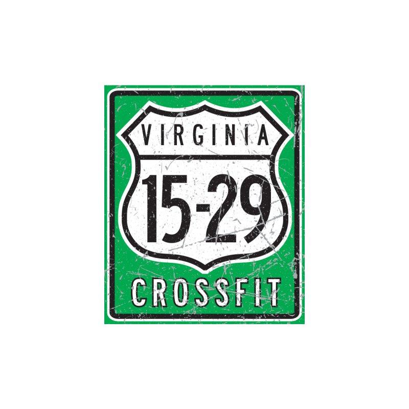 green shower curtain logo by 1529 CrossFit Merch