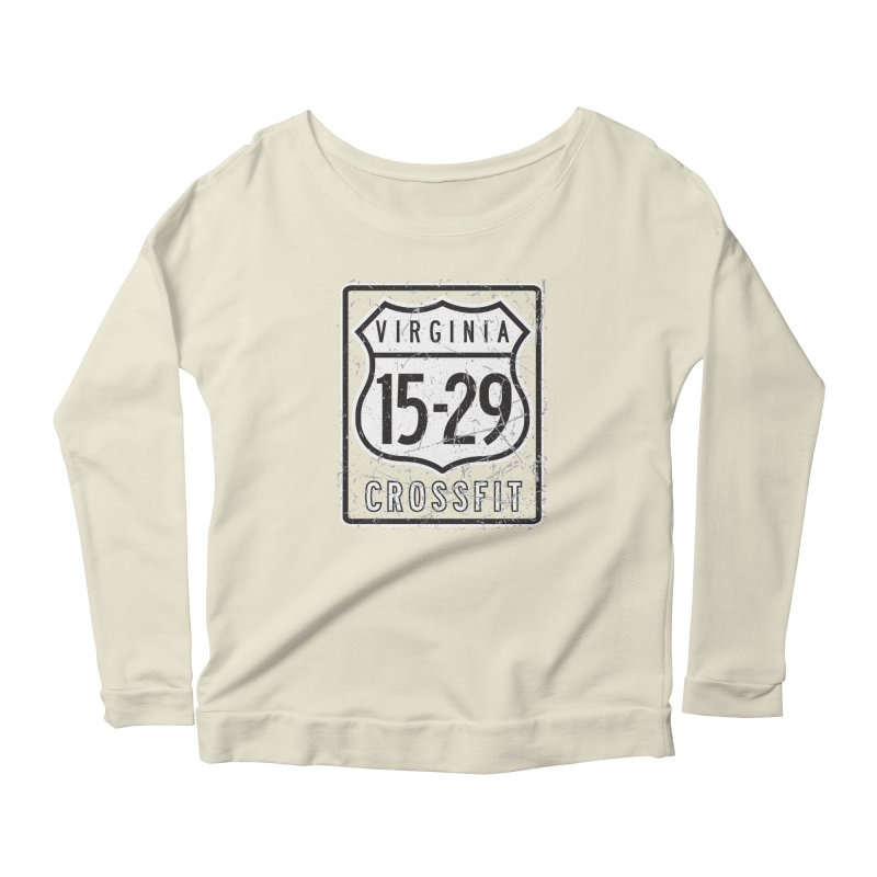 1529 OG Logo Women's Scoop Neck Longsleeve T-Shirt by 1529 CrossFit Merch