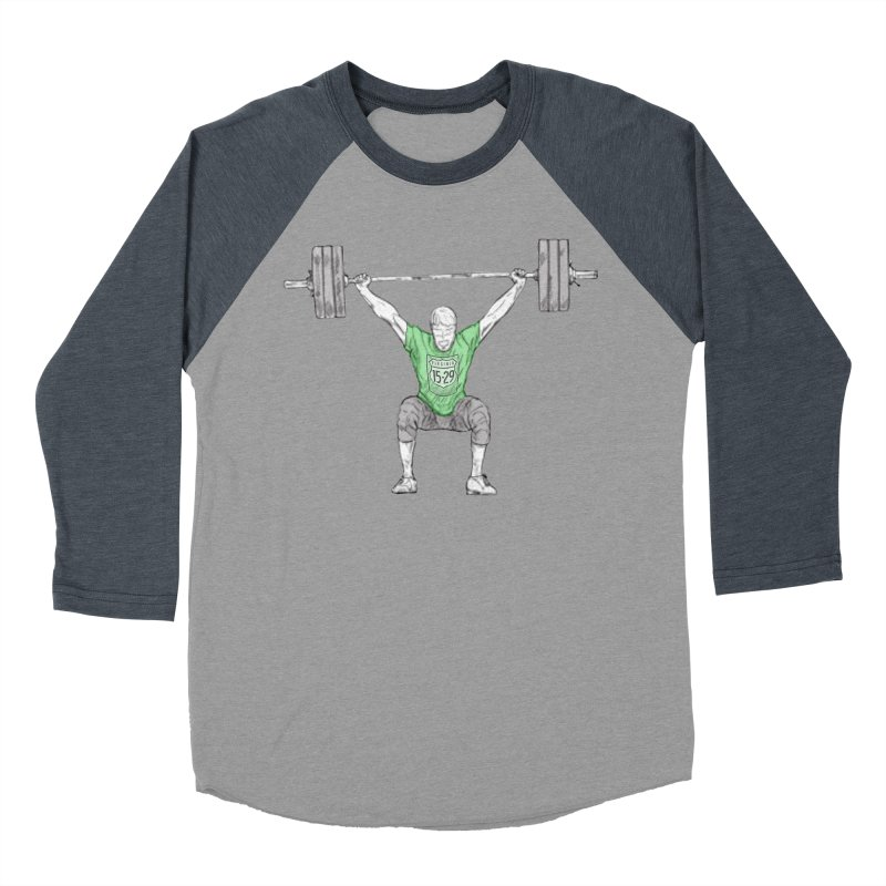 1529 Lifter Men's Baseball Triblend Longsleeve T-Shirt by 1529 CrossFit Merch