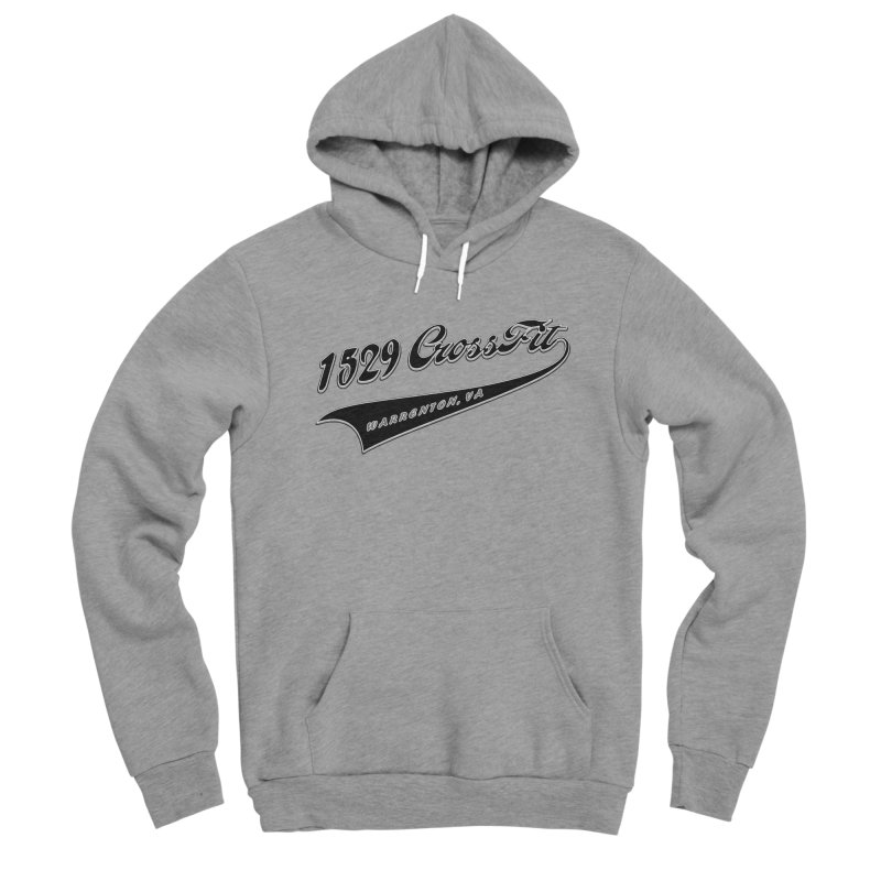 1529 Banner Logo - Black Men's Sponge Fleece Pullover Hoody by 1529 CrossFit Merch