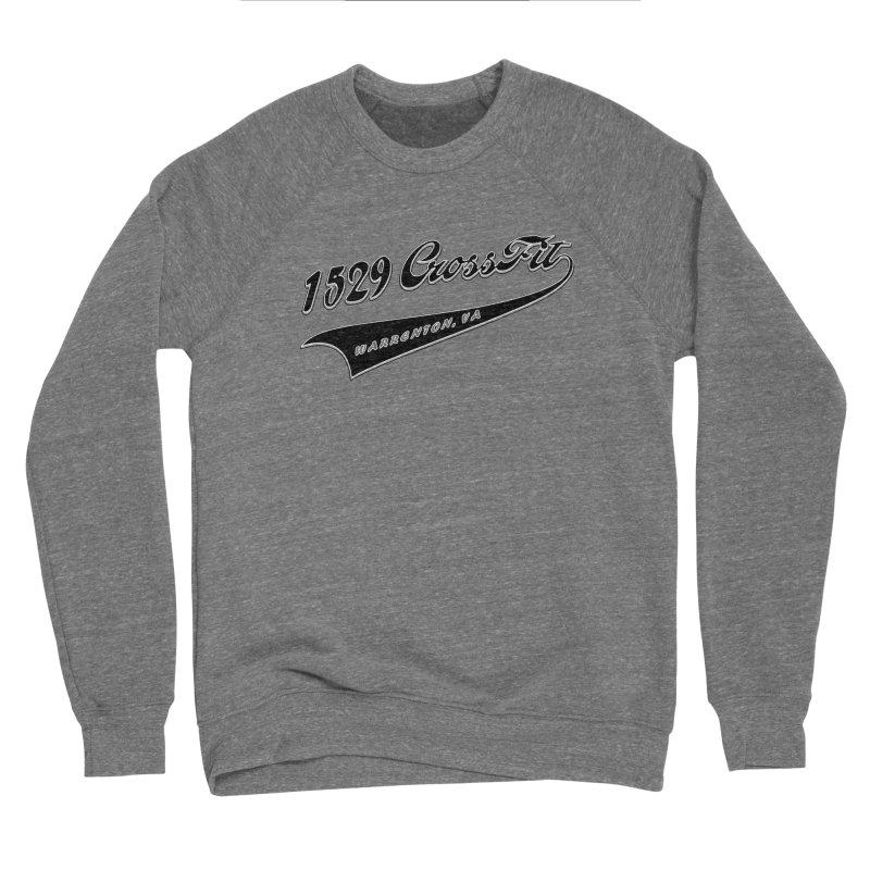 1529 Banner Logo - Black Men's Sponge Fleece Sweatshirt by 1529 CrossFit Merch