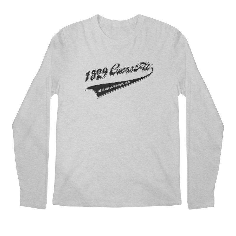 1529 Banner Logo - Black Men's Regular Longsleeve T-Shirt by 1529 CrossFit Merch