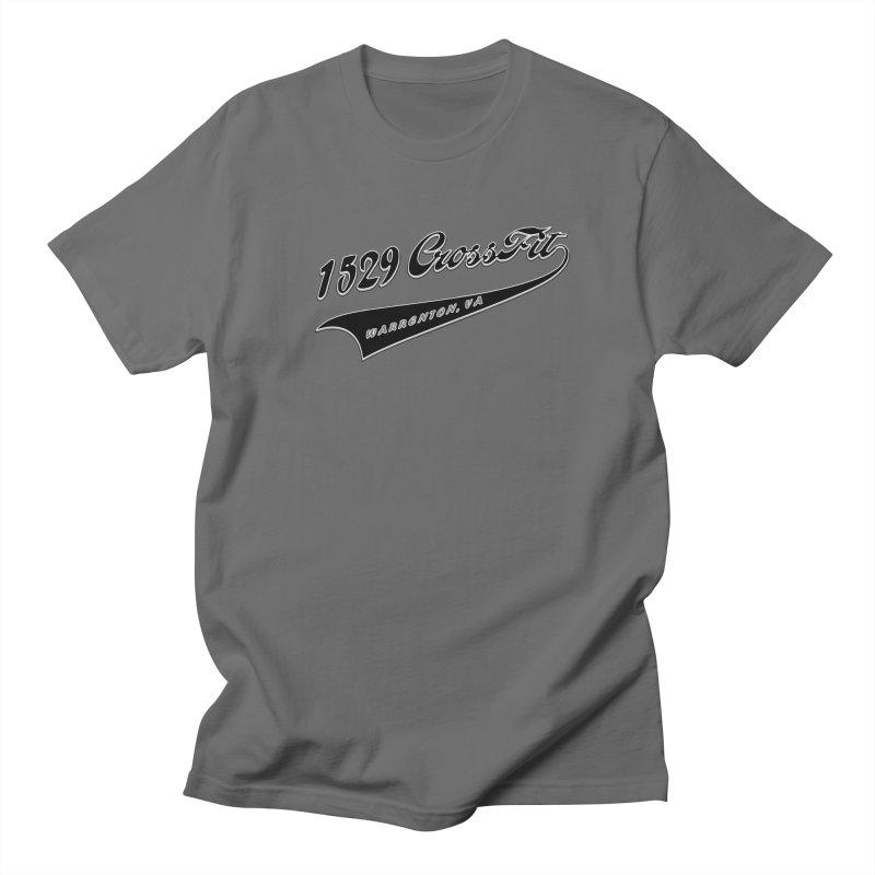 1529 Banner Logo - Black Men's T-Shirt by 1529 CrossFit Merch